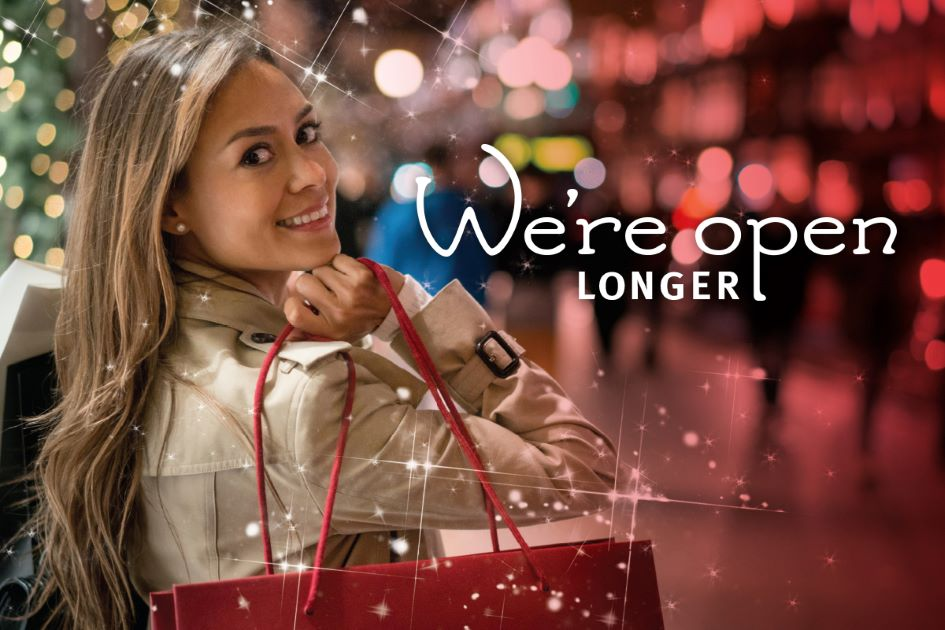 Enjoy shopping for longer
